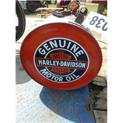 BUTTER CHURN WITH HARLEY DAVIDSON LOGO