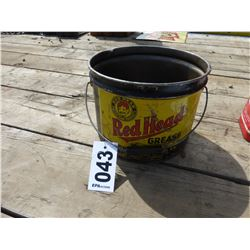 RED HEAD GREASE PAIL