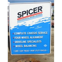 SPICER METAL SIGN