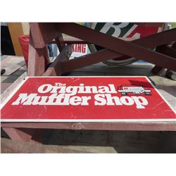 ORIGINAL MUFFLER SHOP METAL SIGN