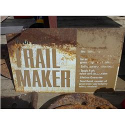 TRAIL MAKER METAL SIGN