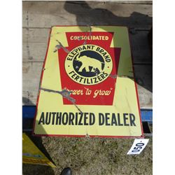ELEPHANT BRAND FERTILIZER SIGN