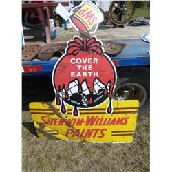 SHERWIN WILLIAMS PAINTS METAL SIGN