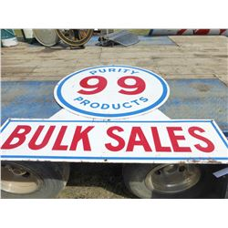 PURITY 99 PRODUCTS METAL SIGN