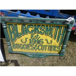 BLACKSMITH FRAMED WOOD SIGN