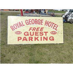 ROYAL GEORGE HOTEL WOOD SIGN