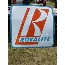 ROYALITE DOUBLE SIDED SIGN