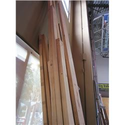 16 PIECES 2X4 AND 2X6 LUMBER VARIOUS SIZES