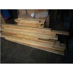 44 PIECES OF 4 TO 6 FOOT ASSORTED SIZE LUMBER