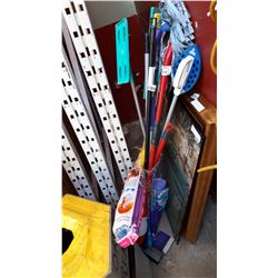 BUNDLE OF MOPS, BROOMS, WET JET, DUSTERS