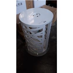 WHITE METAL DECORATIVE TABLE BASE
