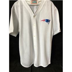 NEW ENGLAND PATRIOTS BASEBALL JERSEY (LARGE)