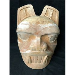 "NATIVE WOOD CARVED MASK (12"" X 12"")"
