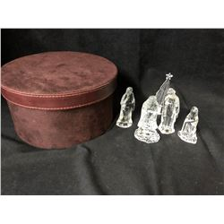 CHRISTMAS NATIVITY CRYSTAL FIGURES