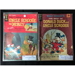 1960'S GOLD KEY COMIC BOOK LOT (UNCLE SCROOGE & MONEY/ DONALD DUCK & UNCLE SCROOGE)