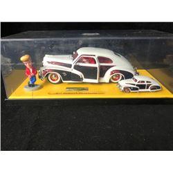 JADA TOYS ROAD RATS 47' CHEVY FLEETLINE 2 CAR SET WITH FIGURE (1:64/ 1;24)