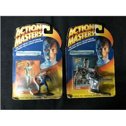 1994 Action Masters Terminator 2 Die Cast Metal Collectibles Includes Trading Card Lot