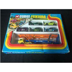 1975 CORGI JUNIORS E3025 TRANSPORTER GIFT SET CARS