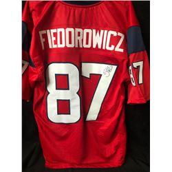 C.J. Fiedorowicz Signed Texans Football Jersey W/ COA
