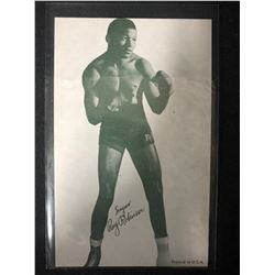 1947-66 Boxing Exhibits Sugar Ray Robinson Boxing Card