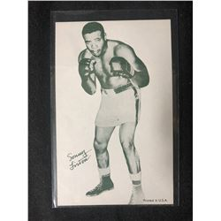 1947-66 Boxing Exhibits Sonny Liston Boxing Card