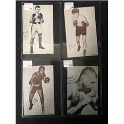 1947-66 Boxing Exhibits Boxing Card Lot (Lane/ Jones/ Johnson...)