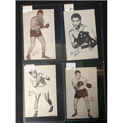 1947-66 Boxing Exhibits Boxing Card Lot (Hank/ Olsen...)