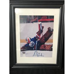 "GRANT FUHR AUTOGRAPHED 8"" X 10"" FRAMED PHOTO"