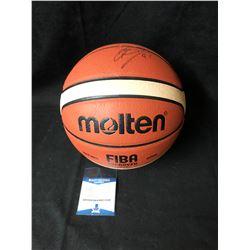 Dirk Nowitzki Signed FIBA Basketball (Beckett COA)