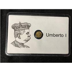 UMBERTO 1 MINI GOLD COIN