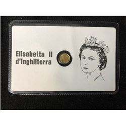 ELISABETTA II MINI GOLD COIN