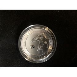 2016  HOWLING WOLF CANADIAN 3/4 OUNCE .9999  SILVER COIN