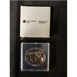 1985 CASED CANADIAN SILVER DOLLAR .500 SILVER