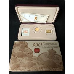 2001 Canada Silver 3 Cent Coin & Stamp Set - 150th Anniversary of Canada's First Postage Stamp