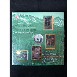 ROYAL CANADIAN MINT LITTLE WILD ONES .925 SILVER 50 CENTS NEW SEALED
