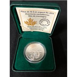 ROYAL CANADIAN MINT $10 MOUNTAIN BIKING COIN .925 SILVER