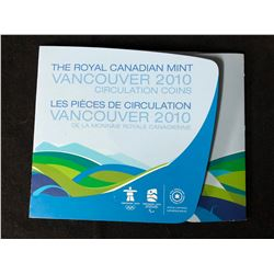 ROYAL CANADIAN MINT  VANCOUVER 2010 CIRCULATION COINS SET