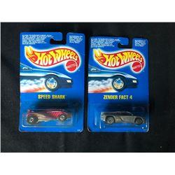 1990'S BLUE CARD HOT WHEELS TOY CAR LOT (SPEED SHARK/ ZENDER FACT 4)