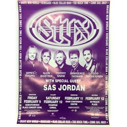 STYX OFFICIAL CANADIAN TOUR CONCERT POSTER