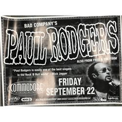 BAD COMPANY'S PAUL RODGERS OFFICIAL CONCERT POSTER (VANCOUVER BC)