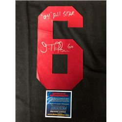 JOSE THEODORE SIGNED ALL-STAR JERSEY NUMBER (BOSSA COA)