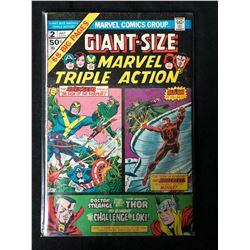MARVEL TRIPLE ACTION #2 (MARVEL COMICS)  *GIANT-SIZE*