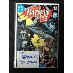 BATMAN YEAR THREE #436 (DC COMICS) *1ST APPEARANCE TIM DRAKE*