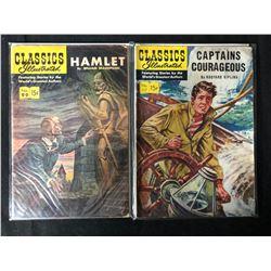 CLASSICS ILLUSTRATED COMIC BOOK LOT (HAMLET/ CAPTAINS COURAGEOUS)