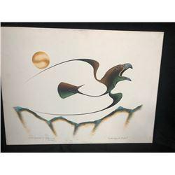 "20 X 24 ORIGINAL ART ON CANVAS ""GOLDEN EAGLE IN FLIGHT"""