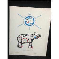 "16 X 20 ORIGINAL ART ON CANVAS ""THE BEAR"" BY STEPHANIE KEWISTEP"