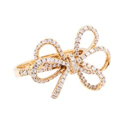 0.77 ctw Diamond Ring - 18KT Rose Gold