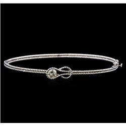 14KT White Gold 0.33 ctw Diamond Bangle Bracelet