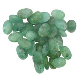 17.18 ctw Oval Mixed Emerald Parcel