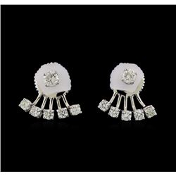 14KT White Gold 0.60 ctw Diamond Earrings